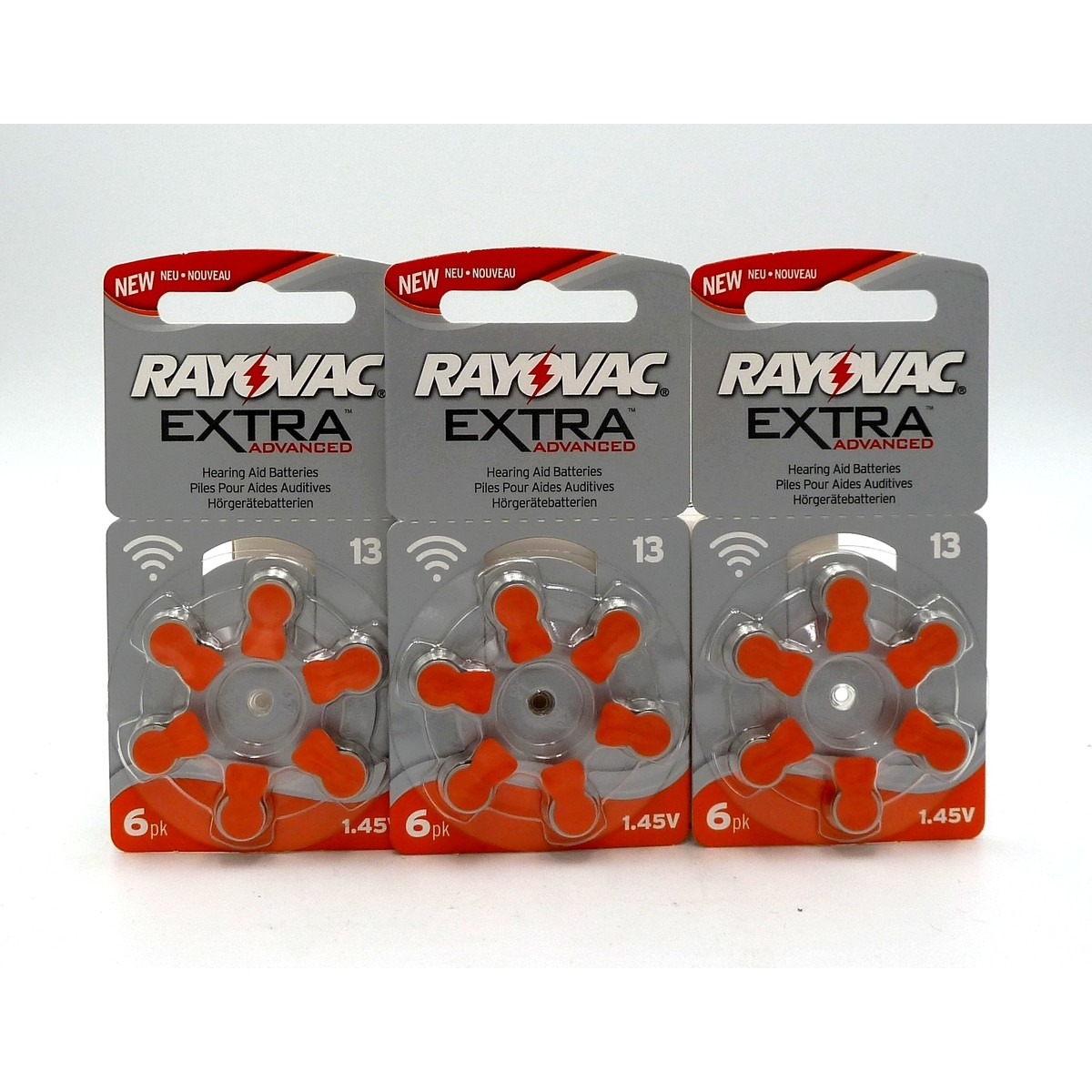 x3 plaquettes Rayovac Extra Advanced 13