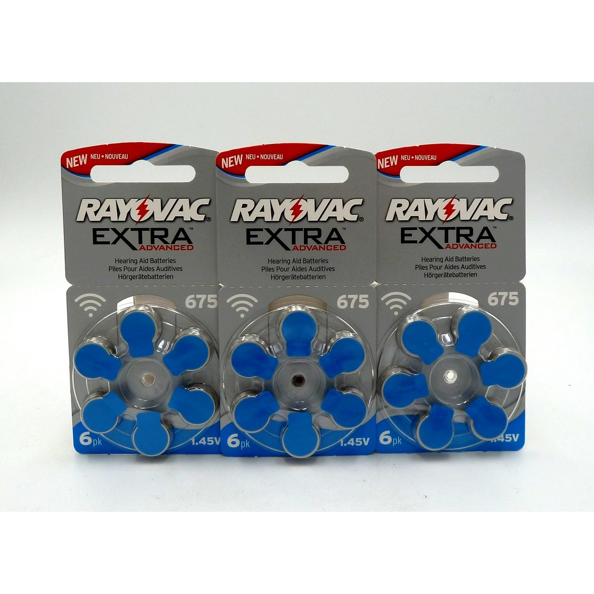 x3 plaquettes Rayovac Extra Advanced 675