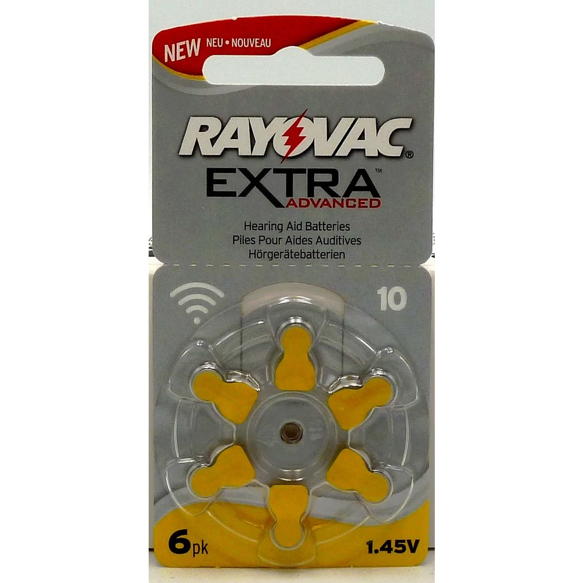 1 plaquette Rayovac Extra Advanced 10