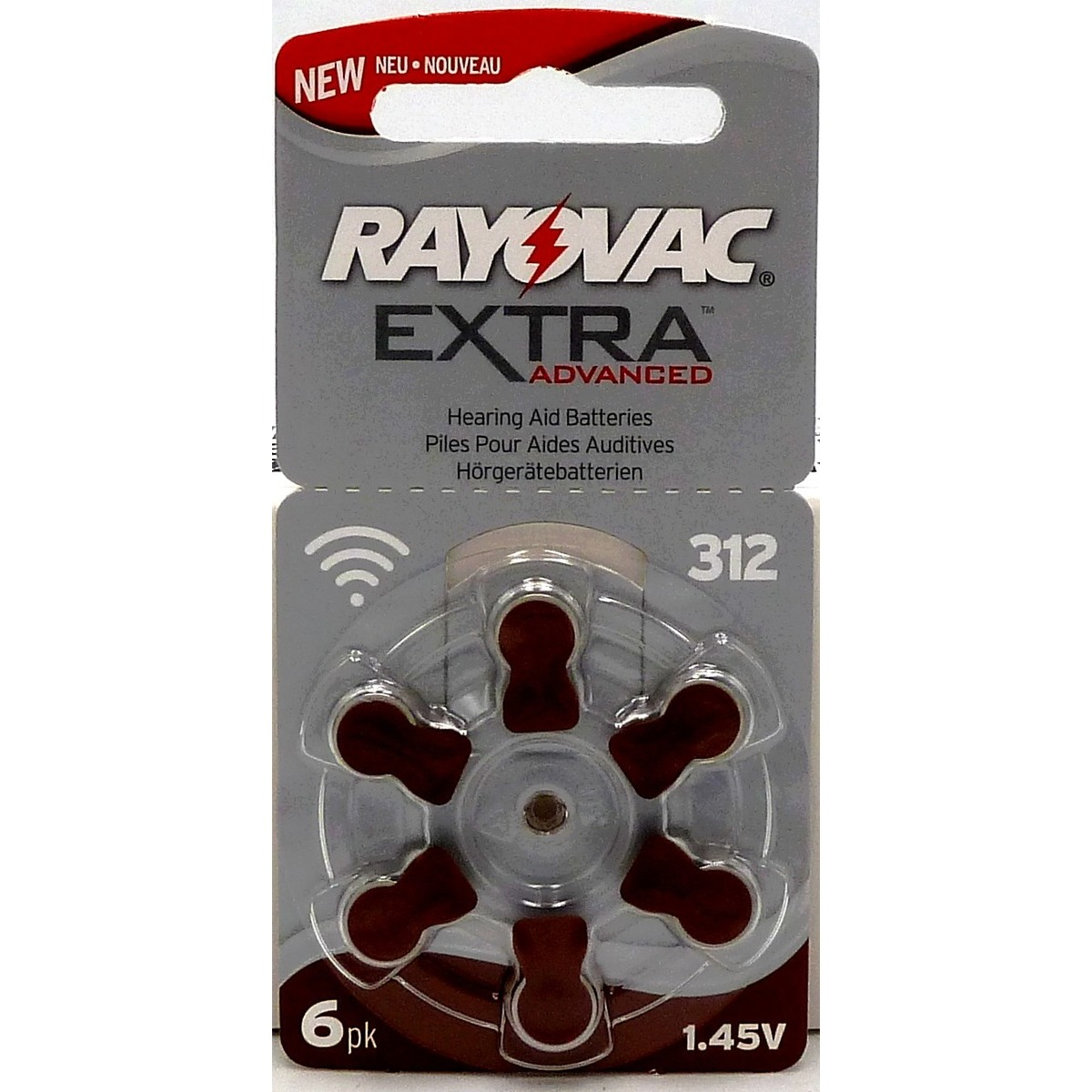 1 plaquette Rayovac Extra Advanced 312